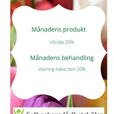 April – Månadens Behandling & Produkt